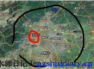 鸟瞰北京大风水格局
