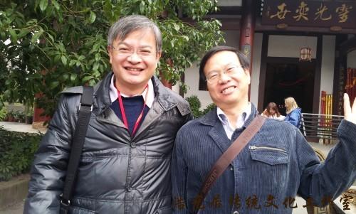 与南师大张栋杰教授做风水科学化研究讨论